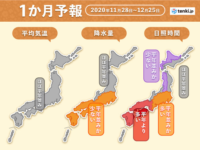 12月の天気傾向 体調管理は昨年よりも気を使って