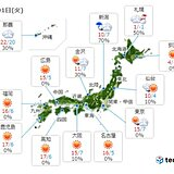 1日 太平洋側は広く晴れ 日本海側は雪や雨 北海道は大雪の所も