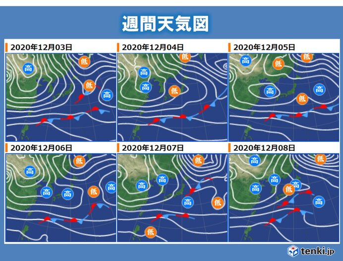 あさって以降の天気・気温の傾向