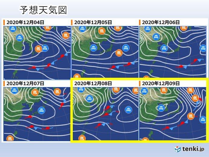 来週は気圧の谷や湿った空気の影響も