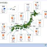 4日 日本海側は午前中を中心に雪や雨 太平洋側は晴れて日差し暖か
