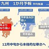 九州 来週も小春日和多い 本格的な寒さの訪れは?