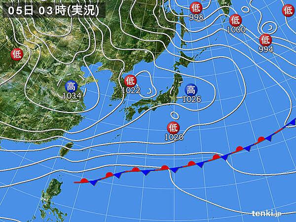 5日 北陸以北は所々で雨や雪 関東も沿岸部を中心に冷たい雨