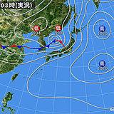 27日 広く風強い 北日本は大雨警戒