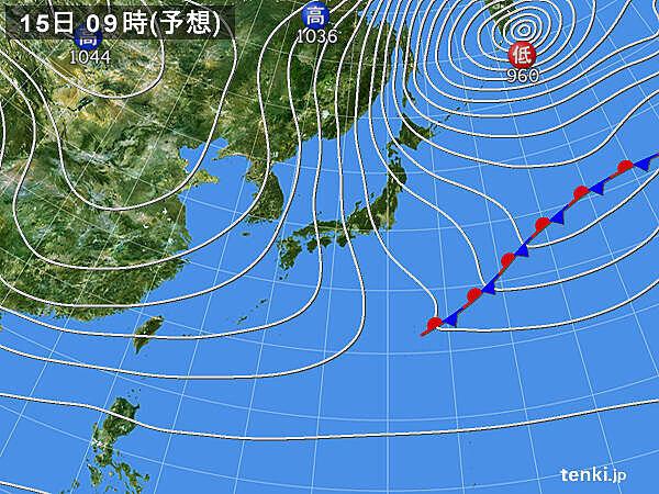 15日~16日 京都市内でも雪が降りやすい 雪雲は名古屋にも