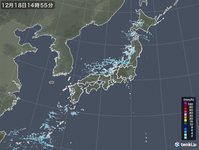 18日 日本海側の雪や雨 小康状態