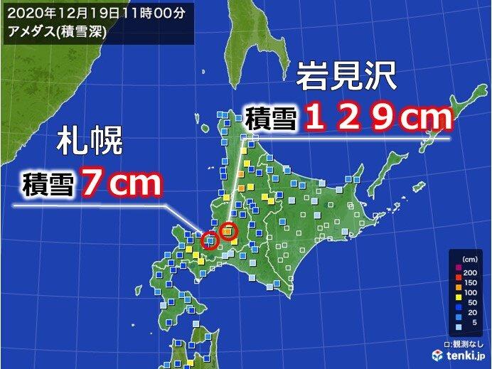 岩見沢は平年の3倍以上 札幌は3分の1