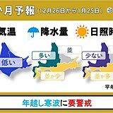 北海道の1か月 年越し寒波に要警戒!
