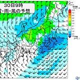 関東 30日の午前中は広く雨 夜は雪も 路面の凍結に注意