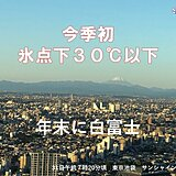 富士山 今季初の氷点下30℃以下