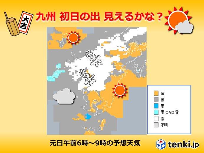 九州 元旦の天気 初日の出は見えるかな?