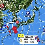 九州 あす(28日)は春の嵐