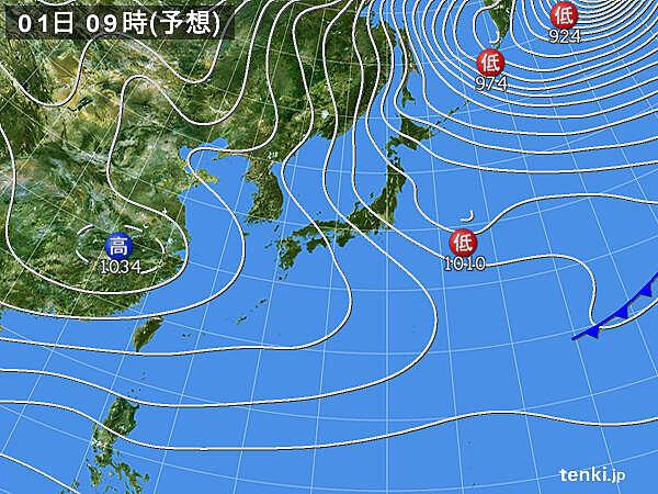 元日 日本海側の雪やふぶき続く 特に北陸付近に発達した雪雲かかる
