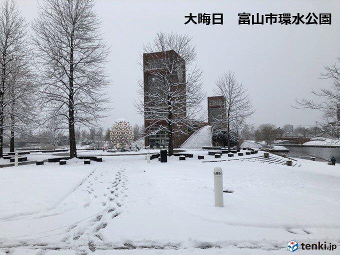 三が日の各地の降雪量は?