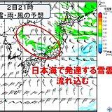 2日~3日朝は北陸付近で再び雪強まる 5日は関東などで冷たい雨か