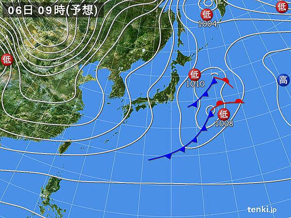 6日~7日は低気圧が東北を通過 9日にかけて寒気流入 日本海側は大雪か