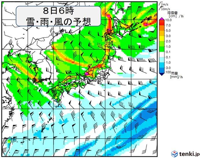 日本海側は猛吹雪や大雪警戒
