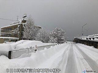 富山県 市内も一晩で48センチの降雪 観測史上1位