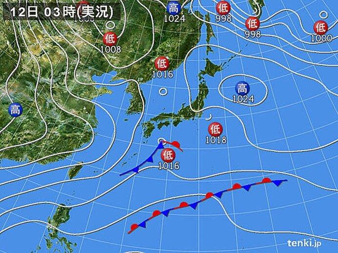 関東甲信 12日午後は広く雪や冷たい雨 東京23区の積雪はない見込み