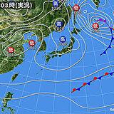 15日 晴れる所がほとんど ただ 関東は曇りや雨でグッと寒く