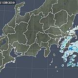 関東 沿岸部に雨雲 夜にかけても断続的に雨 空気冷たく