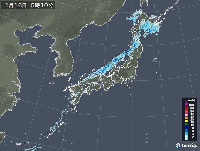 前線通過 日本海側を中心に雨や雷雨