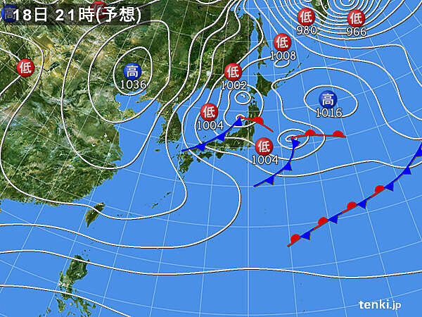 午後は日本海側で雪 暴風雪に注意