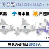 北海道の1か月予報 屋根からの落雪や路面状況の変化に注意
