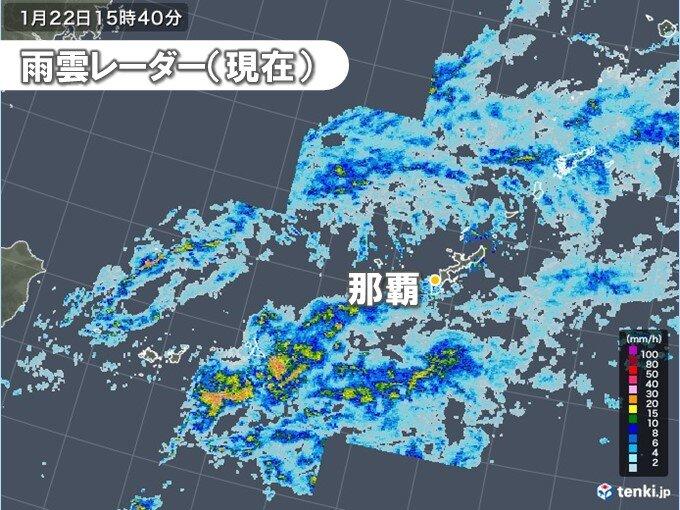 沖縄で雨脚強まる 夜は一時間50ミリを超える非常に激しい雨のおそれ