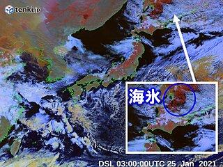 オホーツク海の海氷 さらに南下か