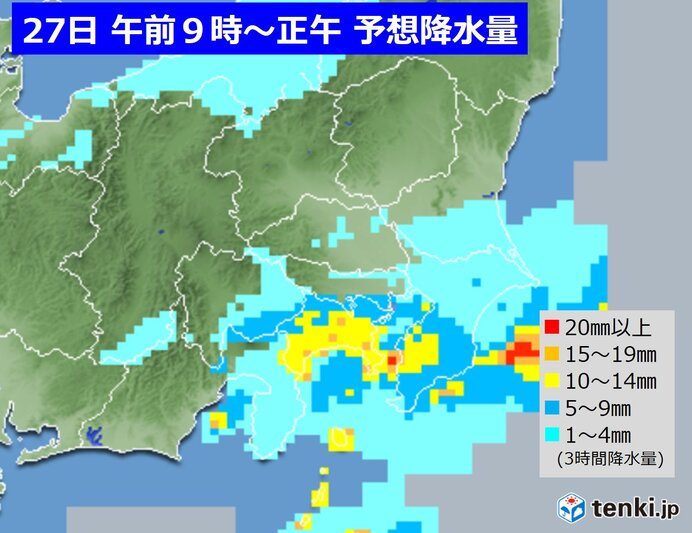 関東 あすは沿岸部ほど本降りの雨 その先大体晴れ 寒さが厳しくなる日も