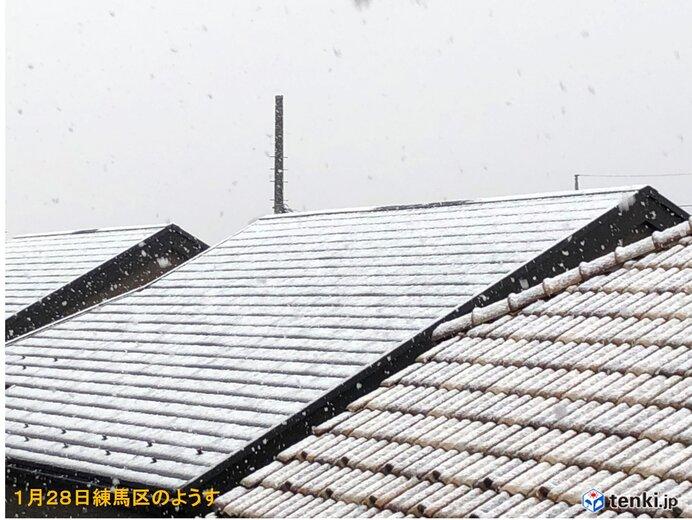 東京23区で雪 都心も1℃台 関東南部の雪いつまで? 積雪は?