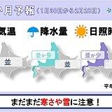 北海道の1か月予報と桜開花予想 最後の寒波到来か?