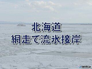北海道 網走で流氷が接岸