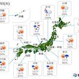 2日 日本海側は次第に雪でふぶく 気温のアップダウン大きい