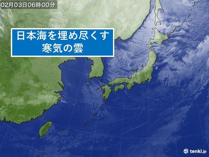 3日立春 北陸から北海道にかけて雪やふぶき