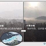 中国地方 週間天気 春と冬の間で、天気はコロコロ変わる