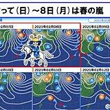 東北 7日~8日 春の嵐 交通への影響に注意
