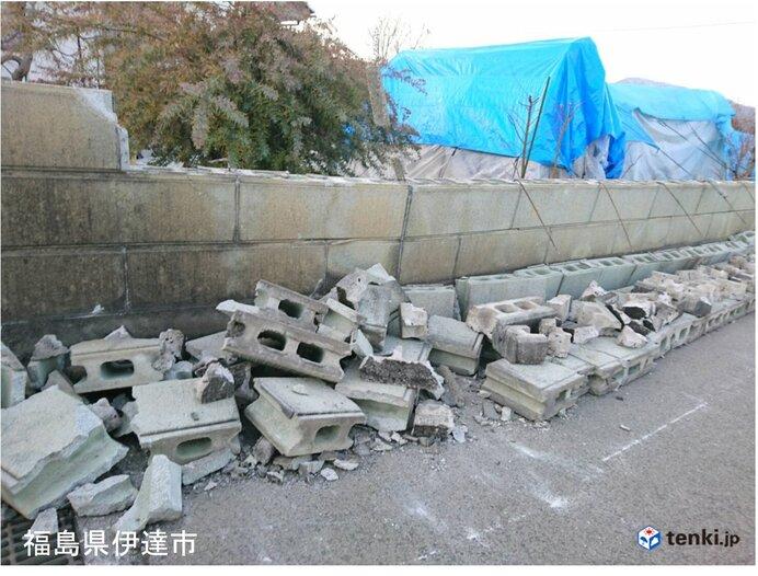 福島県沖で最大震度6強の地震