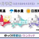 北海道の1か月予報 ゆっくり季節はバトンタッチ