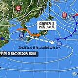 関西 東風解凍の時季でもしばらくは西寄りの風