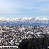 富山では久々の晴れ 立山連峰もスッキリ