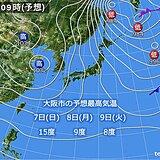 関西 あす日曜日は北部で雨や雪 週明けは寒さが戻る