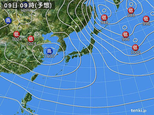 気温急降下 東京も10℃くらいに 水曜日は気温上昇 その後も寒暖差大?_画像