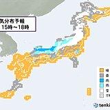 8日 寒気流入 気温大幅ダウン 日本海側は大雪注意