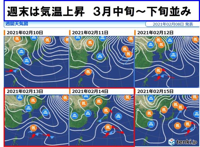 週末 13日(土)~14(日) 気温上昇 雪崩や落雪に注意