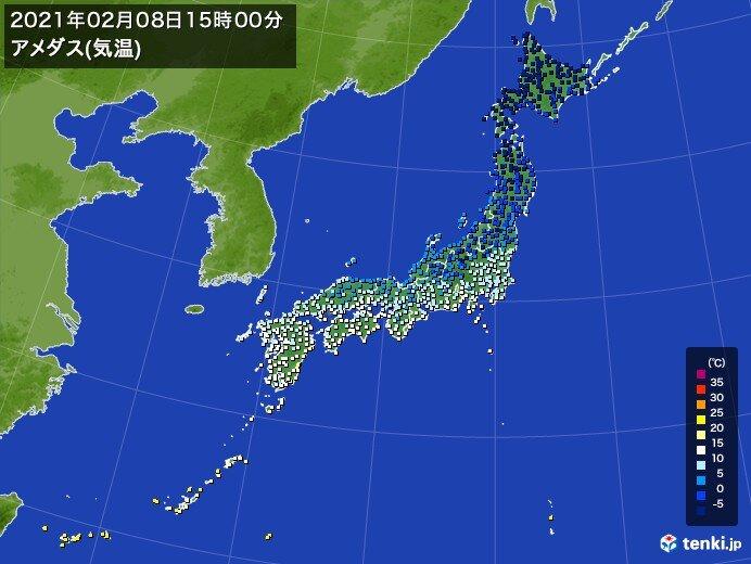 全国的に気温大幅ダウン 仙台で昨日より7℃以上、東京も5℃以上低く