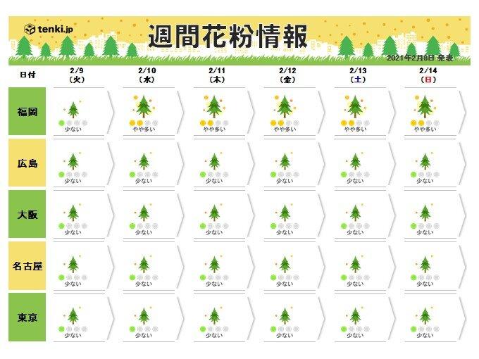 週末にかけて気温上昇 スギ花粉の飛散も本格的に