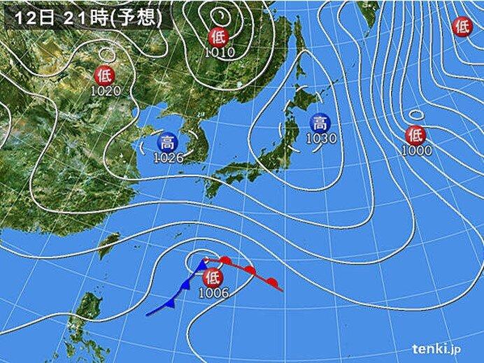 西・東日本 雲多い 沖縄は天気回復