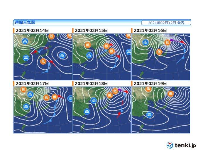 日本海側の晴れ続かず それどころか平地に発達した雪雲か